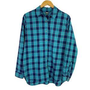 Roots Canada Plaid Long Sleeve Button Down Shirt